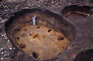 大船遺跡の竪穴建物跡
